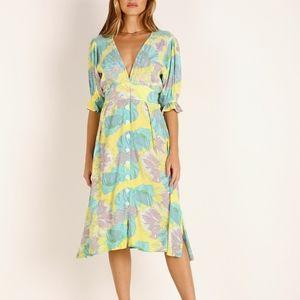 NEW-Faithful the Brand-Rafa Midi Dress Lera Floral